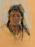 Works on Paper, NICOLAS DE GRANDMAISON (Canadian, 1892-1978). Dan Wildman (Stony Sioux). Pastel on paper. 23 x 17-1/2 inches (58.4 x 44....