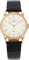 Timepieces:Wristwatch, Vacheron Constantin Very Fine Rose Gold Wristwatch With Unusual Lugs, circa 1945. ...