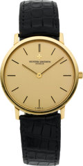 Timepieces:Wristwatch, Vacheron & Constantin Gent's Gold Wristwatch, circa 1970's. ...
