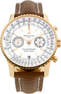 Timepieces:Wristwatch, Breitling Very Fine 18k Gold 125th Anniversary Limited Edition Automatic Chronograph No. 119/125. ...