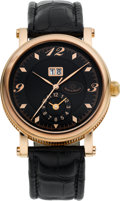 Timepieces:Wristwatch, Martin Braun Bigdate/B Rose Gold Plate GMT Automatic. ...