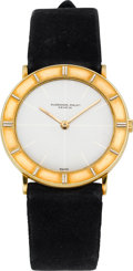 Timepieces:Wristwatch, Audemars Piguet Gold Wristwatch With Unusual Bezel, circa 1960's. ...
