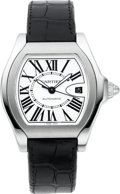 Timepieces:Wristwatch, Cartier Ref. 3312 Large Steel Automatic Roadster. ...