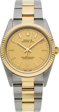 Timepieces:Wristwatch, Rolex Ref. 14233M Choice Two Tone Oyster Perpetual Gent's Wristwatch, circa 2006. ...