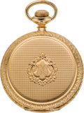 Timepieces:Pocket (post 1900), E. Howard 14k Gold 16 Size 23 Jewel Hunters Case, circa 1910. ...