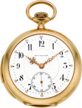 Timepieces:Pocket (pre 1900) , LeCoultre & Co. Very Fine Minute Repeater For Geo. Wilkens Syracuse N.Y., circa 1900. ...