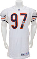Football Collectibles:Uniforms, 1993 Chris Zorich Game Worn Chicago Bears Jersey....