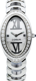 Timepieces:Wristwatch, Corum Lady's Oval Diamond Bracelet Wristwatch. ...