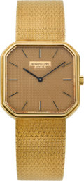 Timepieces:Wristwatch, Patek Philippe Ref. 3854/3 Gent's Gold Wristwatch, circa 1980. ...
