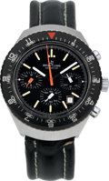 Timepieces:Wristwatch, Breitling Ref. 40 Large Steel Chronograph. ...