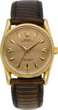 Timepieces:Wristwatch, Rolex Ref. 6593 Gold Oyster Perpetual, circa 1945. ...