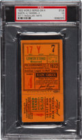 Baseball Collectibles:Tickets, 1922 World Series Game Four Ticket Stub, PSA VG 3....