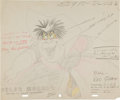 Animation Art:Production Drawing, Alice in Wonderland Queen of Hearts Color Model DrawingOriginal Art (Disney, 1951)....