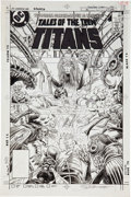 Original Comic Art:Covers, Steve Bissette and Romeo Tanghal Tales of the Teen Titans#70 Cover Original Art (DC, 1984)....