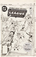 Original Comic Art:Covers, Howard Bender and Dick Giordano Justice League of America#218 Cover Original Art (DC, 1983)....