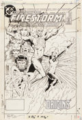 Original Comic Art:Covers, Rafael Kayanan and Dick Giordano The Fury of Firestorm #22Cover Original Art (DC, 1984)....