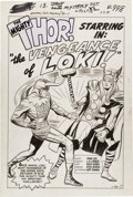 "Original Comic Art:Splash Pages, Jack Kirby and Dick Ayers Journey Into Mystery #88 ""TheVengeance of Loki"" Splash Page 1 Original Art (Mar..."