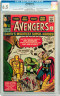 Silver Age (1956-1969):Superhero, The Avengers #1 (Marvel, 1963) CGC FN+ 6.5 Cream to off-whitepages....