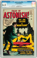 Silver Age (1956-1969):Science Fiction, Tales to Astonish #2 (Atlas, 1959) CGC FN+ 6.5 Light tan tooff-white pages....