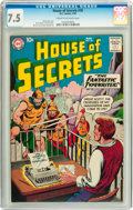 Silver Age (1956-1969):Horror, House of Secrets #18 (DC, 1959) CGC VF- 7.5 Cream to off-whitepages....