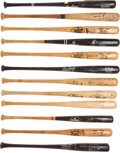 Baseball Collectibles:Bats, Baseball Stars Game Used, Signed Bats Lot of 12....