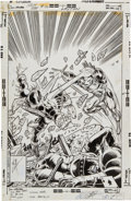 Original Comic Art:Covers, John Romita Jr. and Bob Layton Iron Man #124 Cover Original Art (Marvel, 1979)....