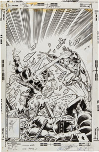 John Romita Jr. and Bob Layton Iron Man #124 Cover Original Art (Marvel, 1979)