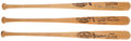 Baseball Collectibles:Bats, Stan Musial, Willie McCovey and Ernie Banks Signed Bats Lot of 3....