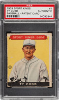 "Baseball Cards:Singles (1930-1939), 1933 Goudey ""Sport Kings"" Ty Cobb #1 PSA-Authentic - Unique PatentCard! ..."