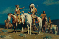 DAVID MANN (American, b. 1948) Big Horn Moon Oil on canvas 24 x 36 inches (61.0 x 91.4 cm) Sig