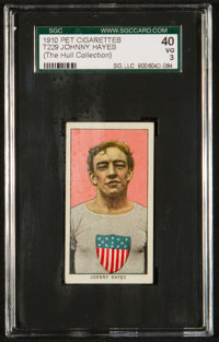 1911 T229 Pet Cigarettes Johnny Hayes ( The Hull Collection) SGC 40 VG 3