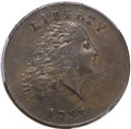 Large Cents, 1793 1C Chain, AMERICA, AU53 PCGS. CAC. S-3, B-4, Low R.3. Our EACGrade XF45. ...