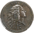 Large Cents, 1793 1C Wreath, Vine and Bars, AU50 PCGS. CAC. S-11a, B-16a, HighR.4. Our EAC Grade XF45. ...