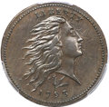 Large Cents, 1793 1C Wreath, Lettered Edge, AU55+ PCGS. CAC. S-11b, B-16b, R.4.Our EAC Grade XF45. ...