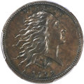 Large Cents, 1793 1C Wreath, Vine and Bars, AU50 PCGS. CAC. S-10, B-10, R.4. OurEAC Grade XF40. ...