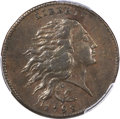 Large Cents, 1793 1C Wreath, Vine and Bars, AU50 PCGS. CAC. S-6, B-7, R.3. OurEAC Grade XF40. ...