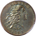 Large Cents, 1793 1C Wreath, Vine and Bars, AU55 NGC. S-5, B-6, R.4. Our EACGrade XF45. ...