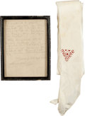 Miscellaneous Collectibles:General, 1940's Manolete Owned Silk Scarf with Letter from Sister....