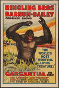 "Movie Posters:Miscellaneous, Circus Poster ""Gargantua"" (Ringling Bros./Barnum and Bailey, 1938).Poster (28"" X 42""). Miscellaneous.. ..."
