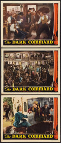 """Movie Posters:Western, The Dark Command (Republic, 1940). Lobby Cards (3) (11"""" X 14""""). Western.. ... (Total: 3 Items)"""