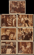 "Movie Posters:Adventure, The Count of Monte Cristo (United Artists, R-1938). Title LobbyCard & Lobby Cards (6) (11"" X 14""). Adventure.. ... (Total: 7Items)"