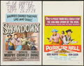 "Movie Posters:Western, Posse from Hell and Other Lot (Universal International, 1961). Window Cards (2) (14"" X 22""). Western.. ... (Total: 2 Items)"