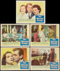 "Movie Posters:Drama, The Great Gatsby (Paramount, 1949). Lobby Cards (5) (11"" X 14""). Drama.. ..."