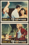 """Movie Posters:James Bond, Goldfinger (United Artists, 1964). Lobby Cards (2) (11"""" X 14""""). James Bond.. ... (Total: 2 Items)"""
