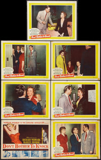 """Don't Bother to Knock (20th Century Fox, 1952). Title Lobby Card and Lobby Cards (6) (11"""" X 14""""). Thriller..."""