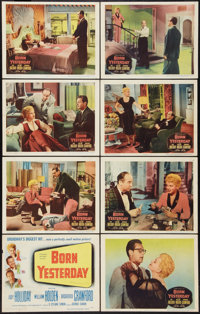 "Born Yesterday (Columbia, 1950). Lobby Card Set of 8 (11"" X 14""). Comedy. ... (Total: 8 Items)"