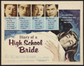 "Movie Posters:Exploitation, Diary of a High School Bride (American International, 1959). HalfSheet (22"" X 28""). Exploitation.. ..."