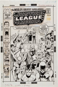 Original Comic Art:Covers, Neal Adams and Dick Giordano Justice League of America #88 Cover Original Art (DC, 1971)....