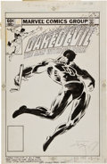 Original Comic Art:Covers, Frank Miller and Klaus Janson Daredevil #185 Cover OriginalArt (Marvel, 1982)....