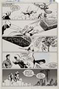 Original Comic Art:Panel Pages, Frank Miller and Klaus Janson Daredevil #190 Daredevil,Black Widow, and Stone vs. The Hand page 19 Original Art (...